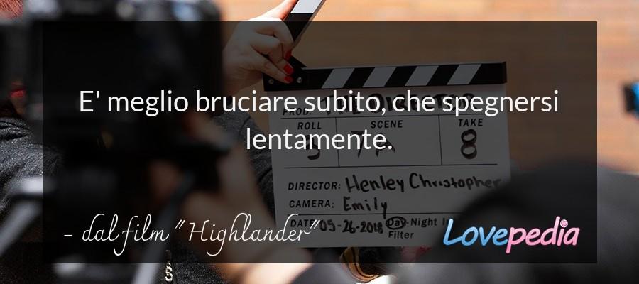 """dal film """"Highlander"""""""
